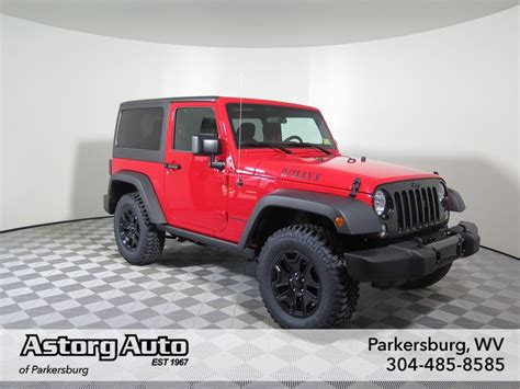 jeep convertible 2017 2017 jeep wrangler willys wheeler convertible in