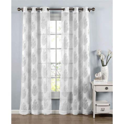 cotton sheer curtains window elements sheer penelope cotton blend burnout sheer