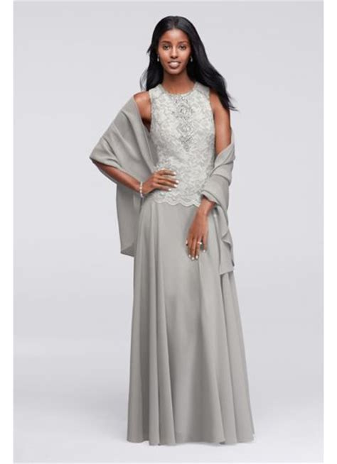 Tipsy Set Dress Pasmina sleeveless dress with coordinating shawl david s bridal