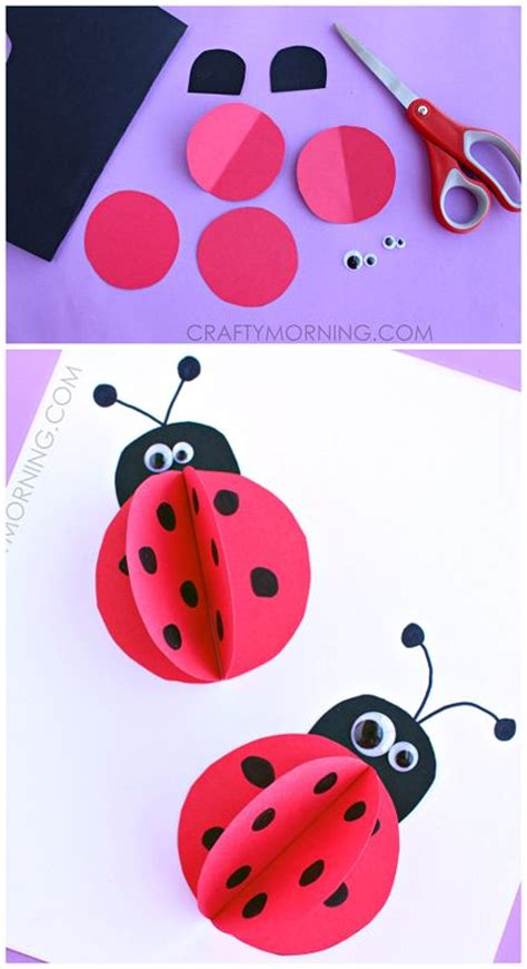 Paper Ladybug Craft - best 20 ladybug crafts ideas on bug crafts