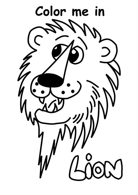 Lion Print by Free Coloring Lion Print Out Dominatepreforeclosures Com