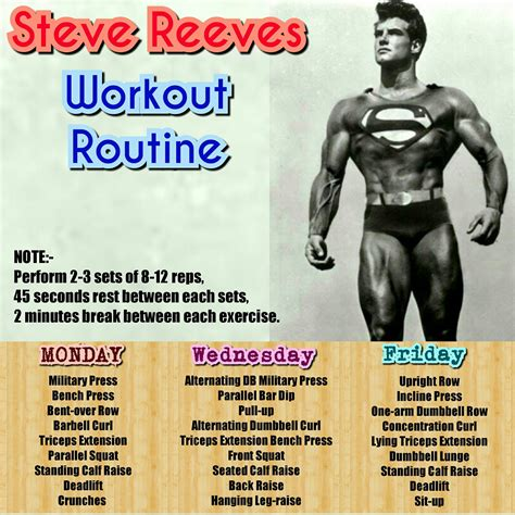 steve reeves bench press steve reeves workout routine monsterabs