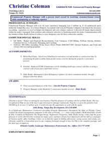 Quarry Expert Sle Resume by Free Sle Resume Of Property Manager Property Manager Resume Sle Haerve Resume Top 8