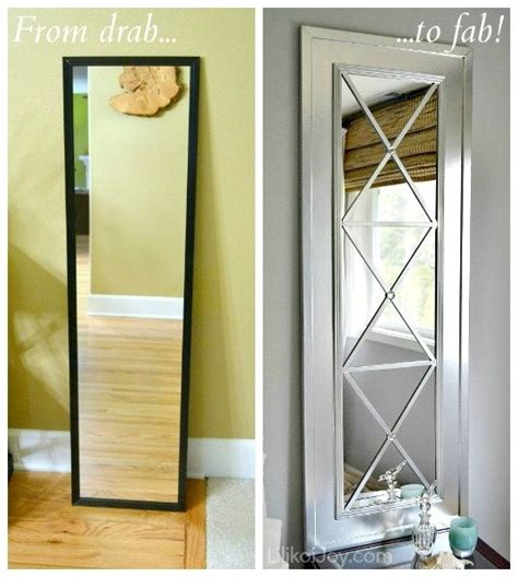 upcycle a cheap door mirror into a glam wall mirror