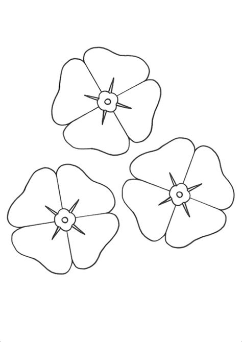 poppy template for children coloring pages poppy flower az coloring pages