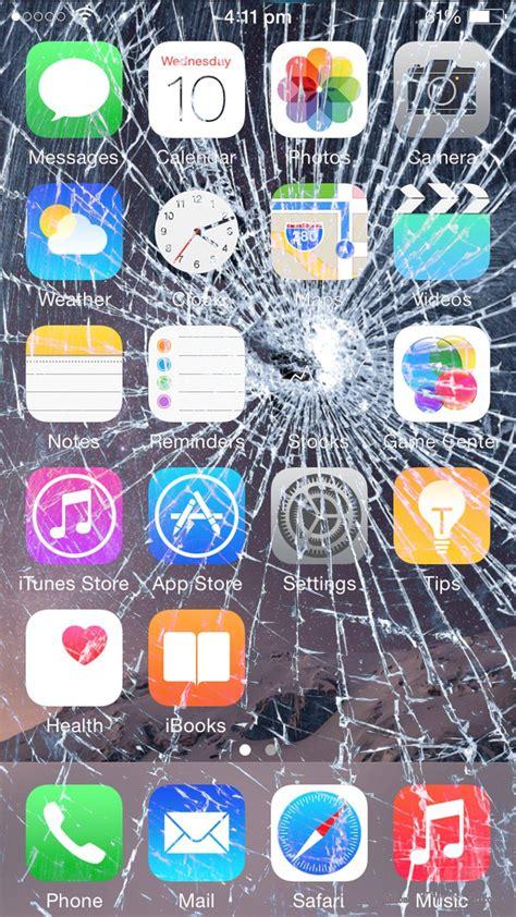 ipod menu layout broken screen 7 broken screen wallpapers for apple iphone 5 6 and 7