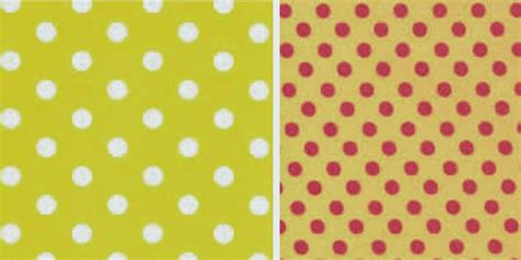 mickey mouse pattern of red black and yellow polka dots on a white
