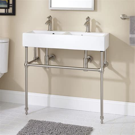 bathroom sink consoles yaromir console sink with brass stand console sinks