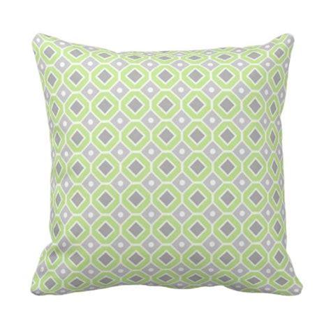 geometric pattern decorative pillows lime grey geometric pattern decorative pillow