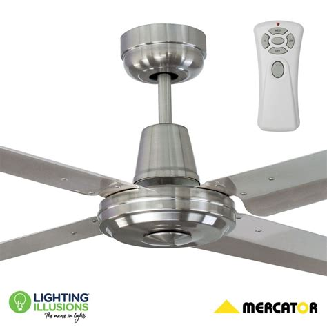 chrome ceiling fan with remote 52 quot 1300mm brushed chrome stainless steel ceiling