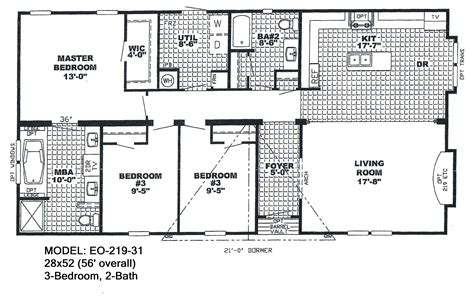 Jacobsen Manufactured Homes Floor Plans by 1997 Redman Mobile Home Floor Plan