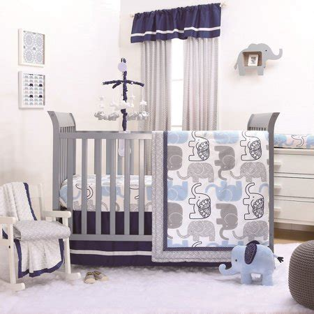 elephant nursery bedding sets peanut blue grey elephant crib bedding 20 nursery essentials set walmart