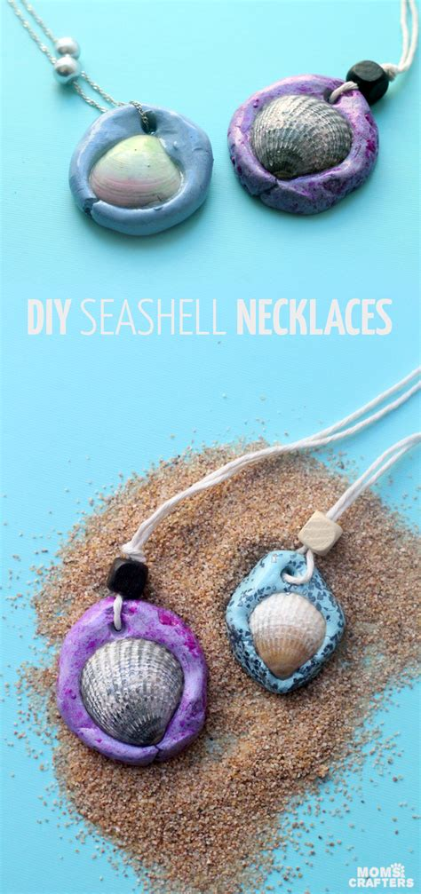 easy jewelry crafts for seashell necklace an easy clay jewelry craft and
