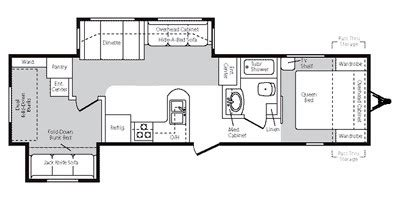 montana travel trailer floor plans 2008 keystone montana mountaineer edition 32prd trailer reviews prices and specs rv guide