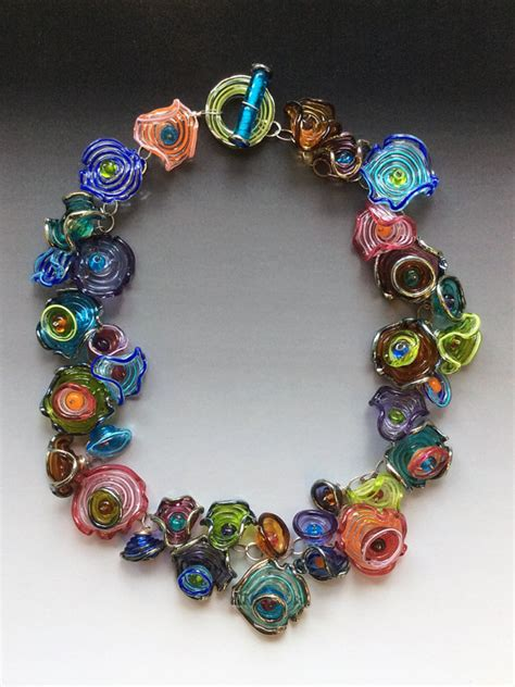 octopus garden necklace handmade glass lwork