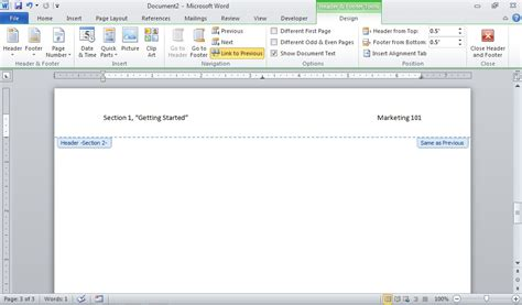 five tips for working with headers and footers in word
