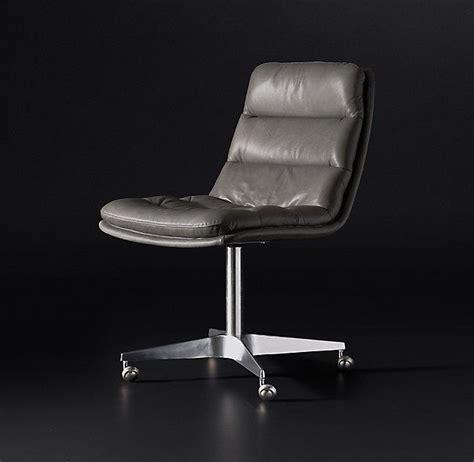 roar  rabbit gray leather swivel chair