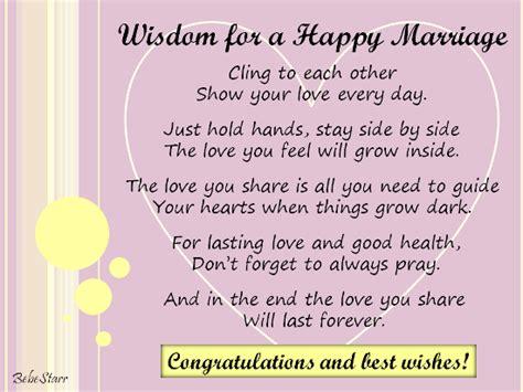 Wedding Congratulations Words Of Wisdom by Wisdom For A Happy Marriage Free Congratulations Ecards