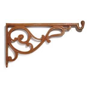 traditional scroll cast iron shelf bracket hardware