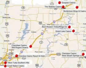 casino map eastern us eastern oklahoma indian casinos