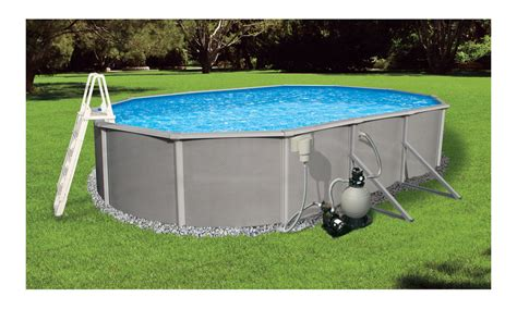 amazon pool amazon com blue wave belize 12 feet by 24 feet oval 48 inch deep 6 inch top rail metal wall
