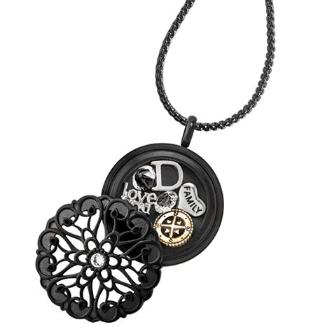 Origami Owl Black Locket - origami owl custom jewelry sentiments black twist living