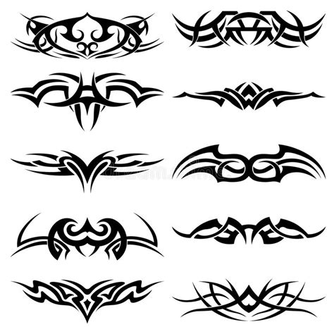 set of tribal abstract tattoos vector free download tribal tattoo pack vector stock vector illustration of