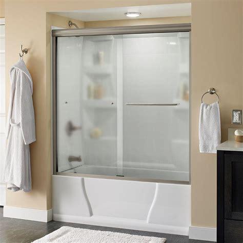 curved bathtub doors coastal shower doors paragon 3 8 series 60 in x 58 in