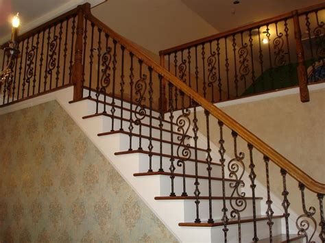 stair banisters and railings ideas iron stair railing home design by larizza