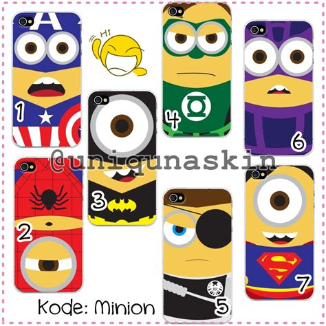 Casing Hp Iphone 4 4s Despicable Me Minion One Direction Custom Hardca uniquna skin custom hardcase minions despicable me 2