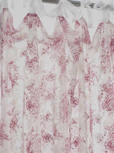 rose drapes anglaise net curtain rose your home curtains