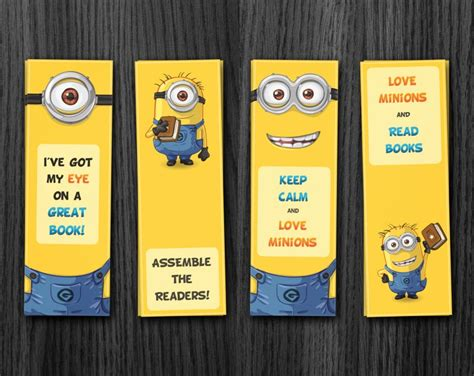printable bookmarks minions minion bookmark printable download
