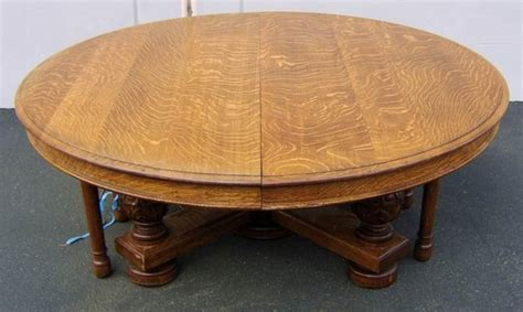 Antique Tiger Oak Dining Table For Sale Antiques Classifieds