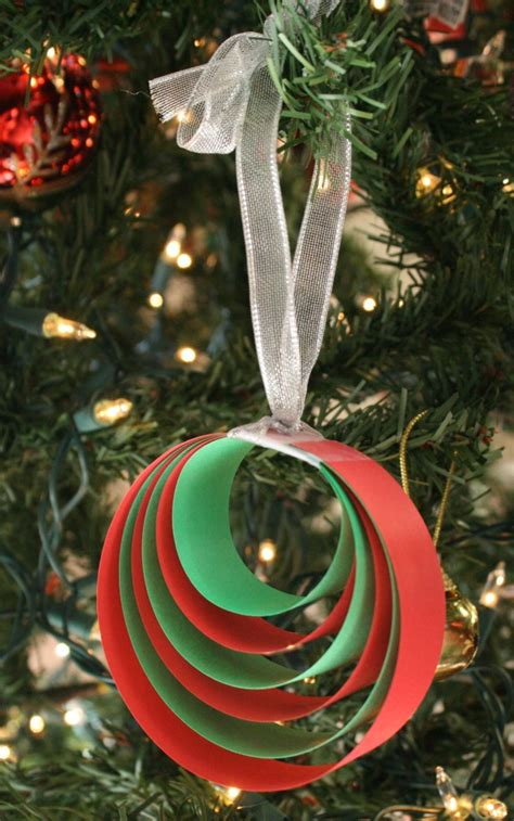 easy paper christmas ornament craft fantastic fun learning
