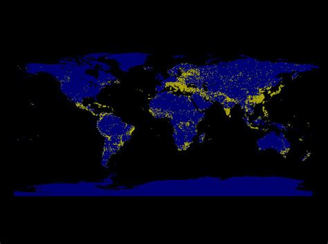 map lights light map detailed map of light pollution around