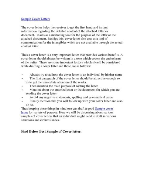 Best Cover Letters For Resumes – Best Sample Cover Letters   The Best Letter Sample