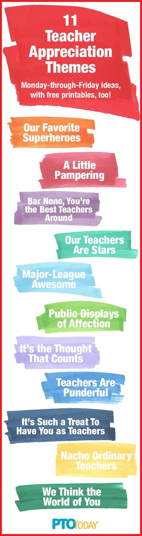 themes in the book every day teacher appreciation week ideas for every day theme