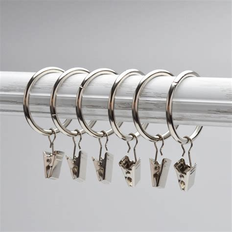 curtain rod rings with clips 10pcs unmovable ring stainless steel curtain rod clips