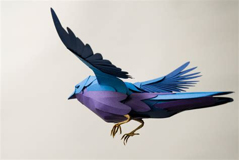 Paper Bird Crafts - paper birds by andy singleton colossal