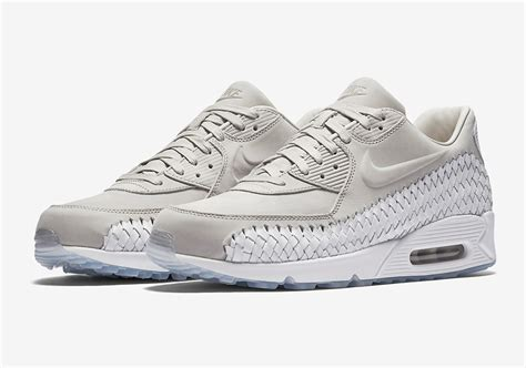 Nike Air Max 90 Woven All White nike air max 90 woven iron ore 833129 005 sneaker bar detroit
