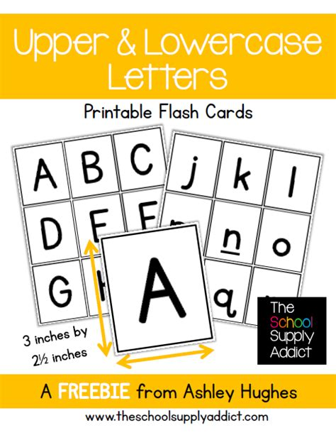 printable alphabet cards no pictures free alphabet flash cards from the school supply addict