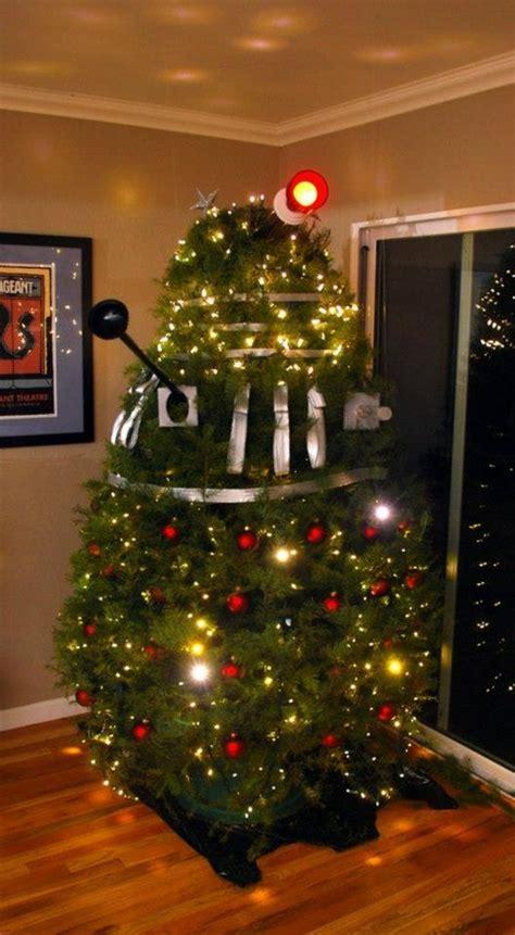this dalek christmas tree is ready to exterminate santa