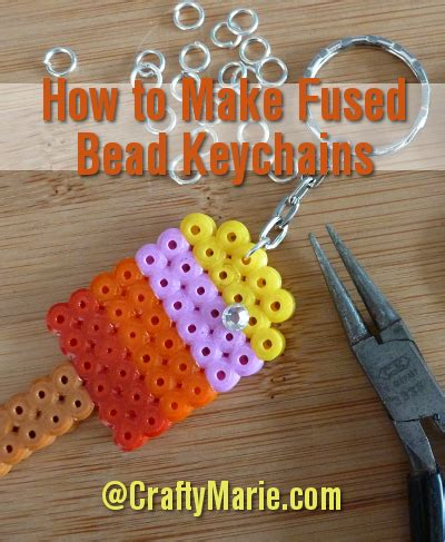 how to make a perler bead keychain fused bead keychains