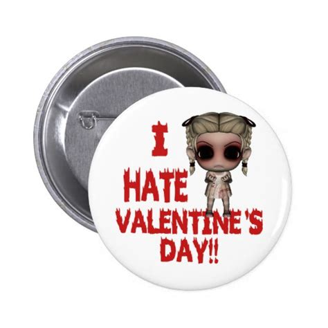 hating valentines day i valentines day button zazzle