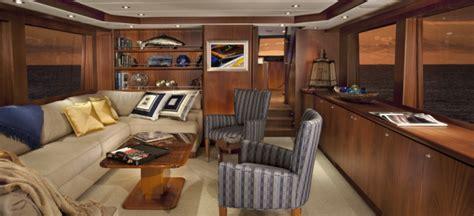 Pelorus Interior by Queenship 74 Motor Yacht Meriweather Designed By Jonathan Quinn Barnett Yacht Charter