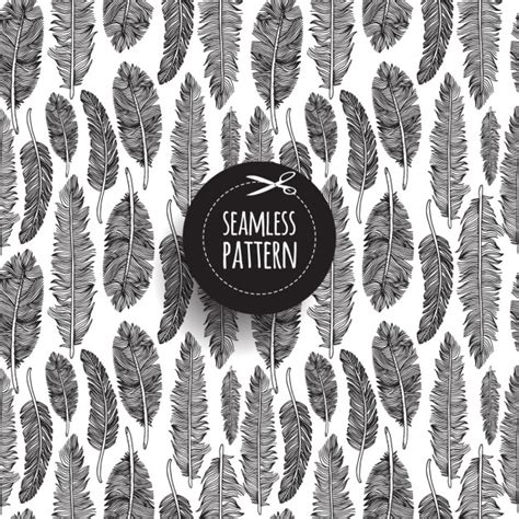 tribal pattern feather black and white tribal feather pattern vector free download
