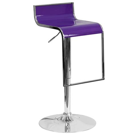 Purple Counter Height Bar Stools by Flash Furniture Adjustable Height Purple Bar Stool