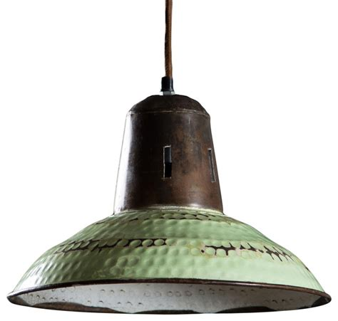 Farmhouse Pendant Light Fixtures Goshen Hanging L Vintage Green Farmhouse Pendant Lighting By C G Sparks