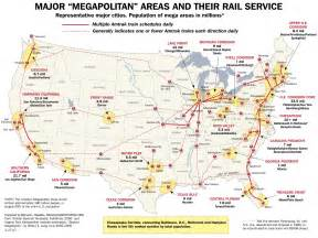 Amtrak Train Map by Amtrak Major Railway Map United States Mappery