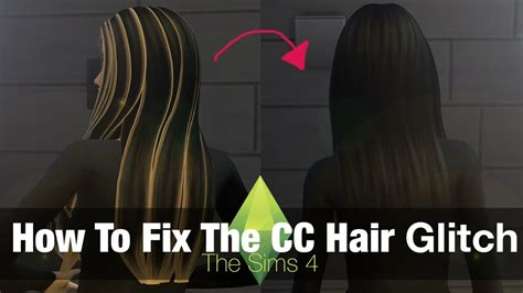 how to fix long hair in upsweep the sims 4 tutorial how to fix custom content hair glitch